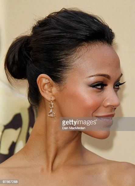 Actress Zoe Saldana attends the 82nd Annual Academy Awards held at the Kodak Theater on March 7 2010 in Hollywood California