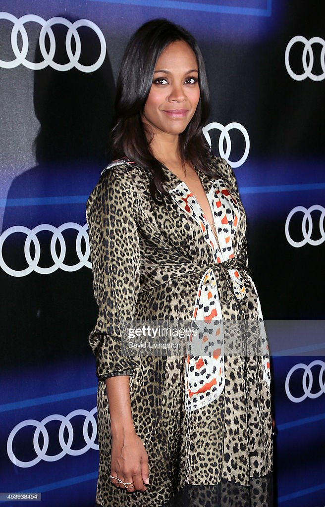 Actress Zoe Saldana attends the Audi celebration of Emmys Week 2014 at Cecconi's Restaurant on August 21, 2014 in Los Angeles, California.