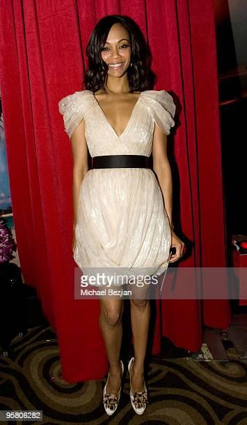 Actress Zoe Saldana attends the BFCA Critics' Choice Movie Awards at Hollywood Palladium on January 15 2010 in Hollywood California