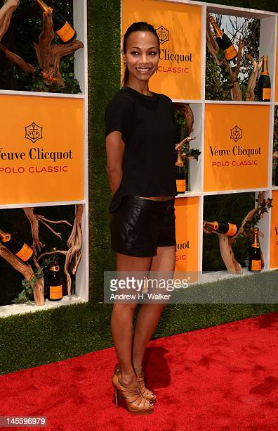 Actress Zoe Saldana attends the fifth annual Veuve Clicquot Polo Classic on June 2, 2012 in Jersey City.