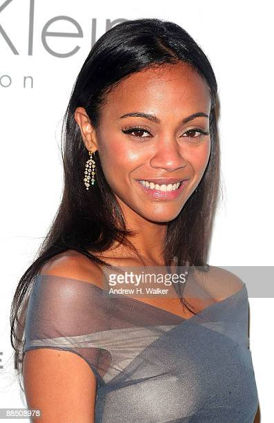Actress Zoe Saldana attends The High Line's Opening Summer Benefit presented by Calvin Klein Collection at High Line Park on June 15 2009 in New York...
