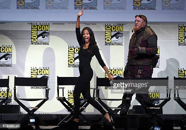 Actress Zoe Saldana attends the Marvel Studios presentation during ComicCon International 2016 at San Diego Convention Center on July 23 2016 in San...