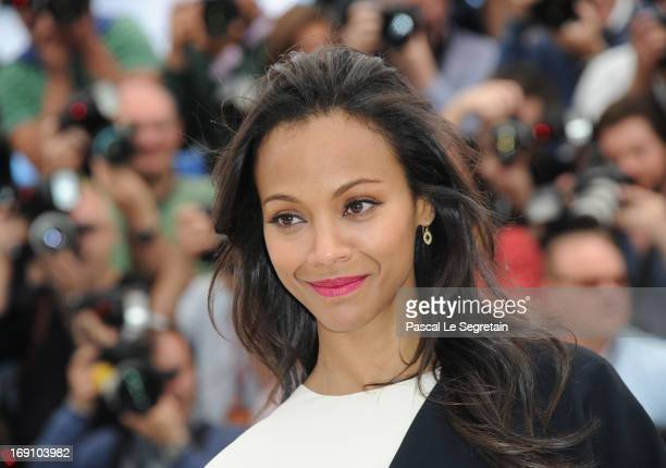 Actress Zoe Saldana attends the photocall for 'Blood Ties' at The 66th Annual Cannes Film Festival on May 20 2013 in Cannes France