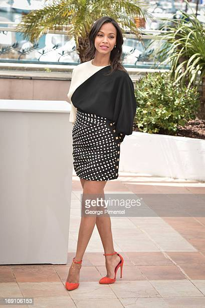 Actress Zoe Saldana attends the photocall for 'Blood Ties' at The 66th Annual Cannes Film Festival>> on May 20 2013 in Cannes France