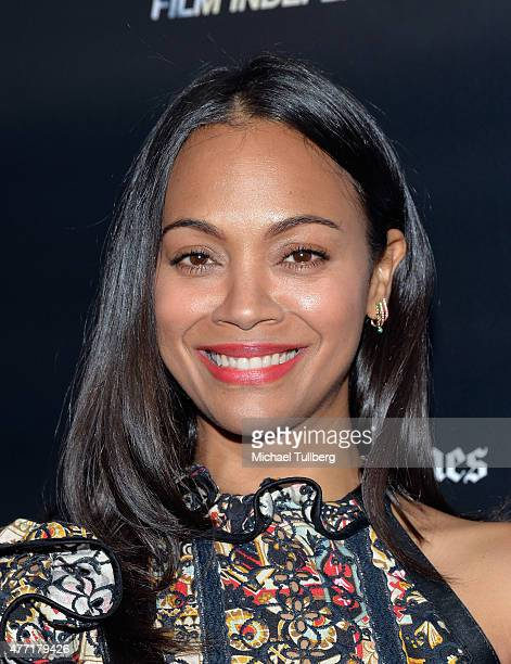 Actress Zoe Saldana attends the premiere of 'Infinitely Polar Bear' at the Los Angeles Film Festival at Regal Cinemas LA Live on June 14 2015 in Los...
