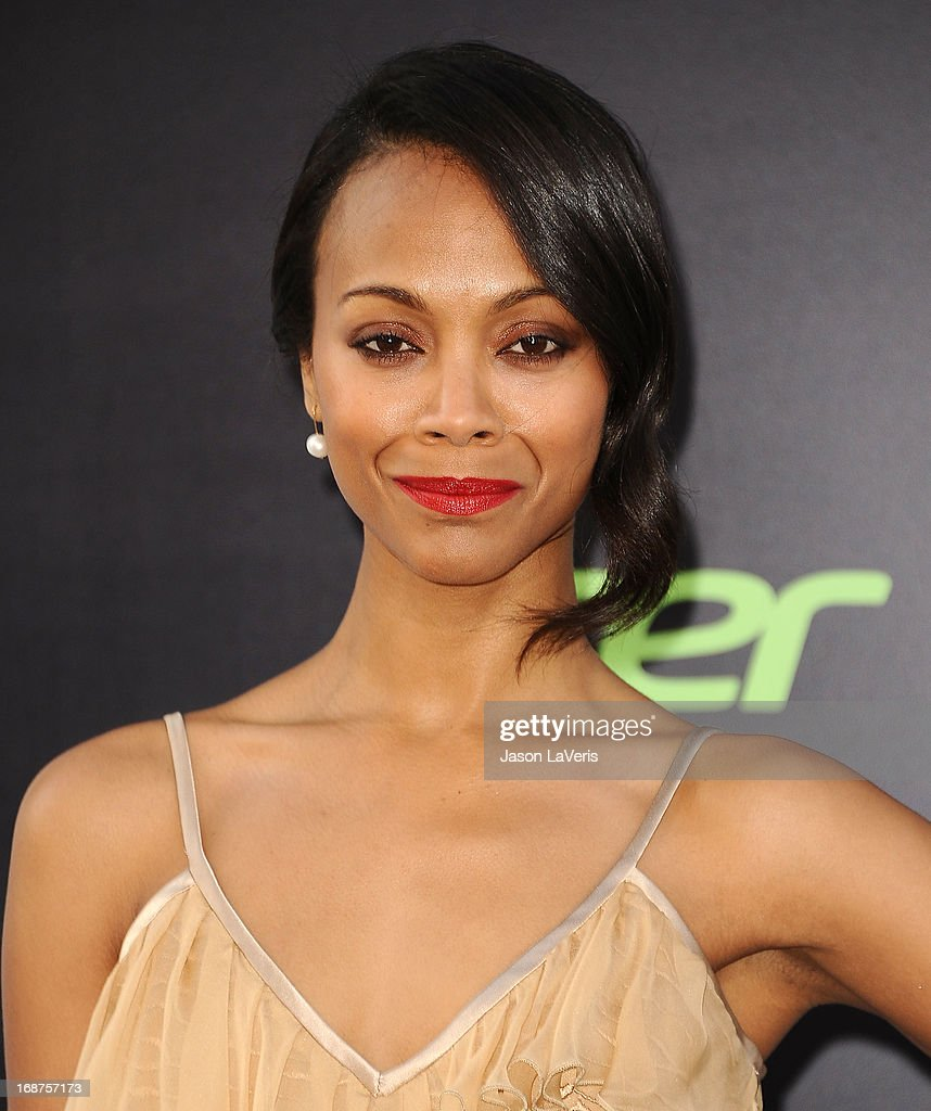 Actress Zoe Saldana attends the premiere of 'Star Trek Into Darkness' at Dolby Theatre on May 14, 2013 in Hollywood, California.