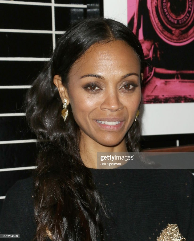 Actress Zoe Saldana attends the screening after party for Marvel Studios' 'Guardians Of The Galaxy Vol. 2' hosted by The Cinema Society at The Skylark on May 3, 2017 in New York City.