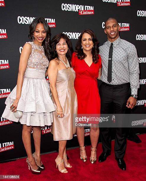 Actress Zoe Saldana, Cosmopolitan for Latinas SVP/Publishing Director Donna Kalajian Lagani, Cosmopolitan for Latinas Editor-in-Chief Michelle...
