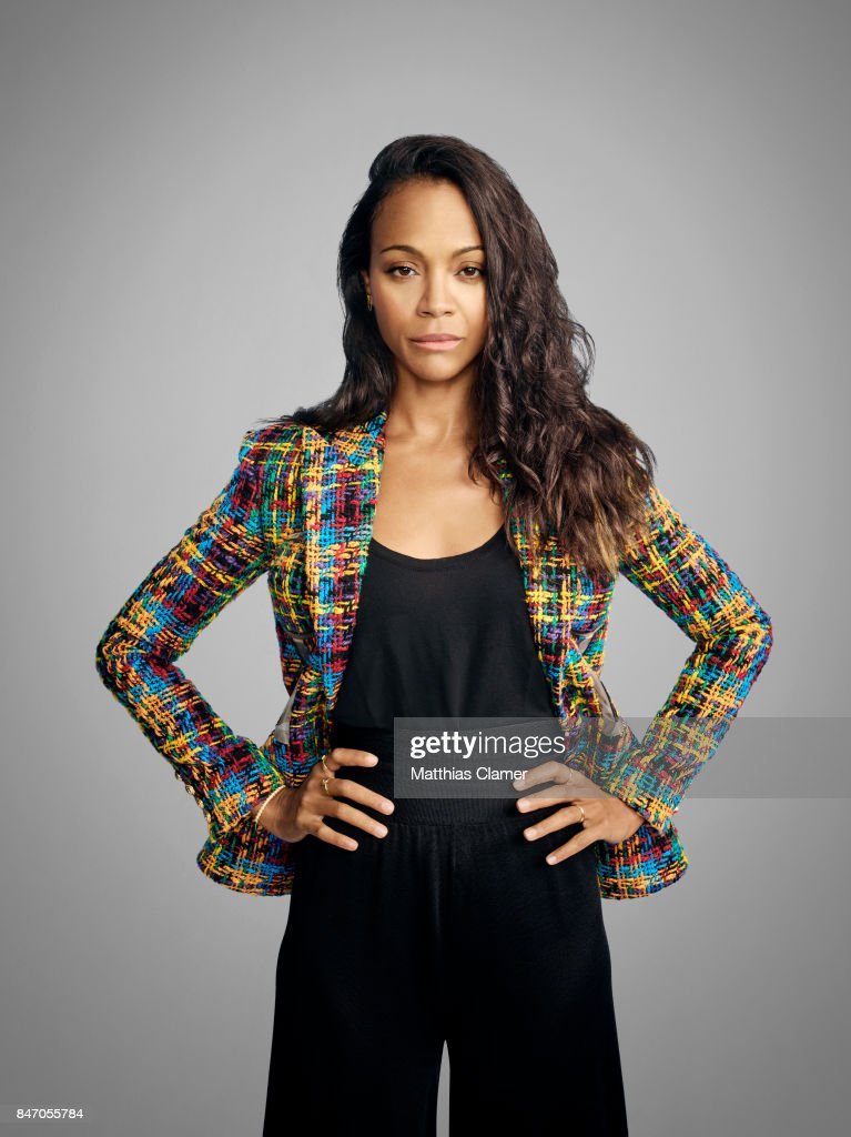 Actress Zoe Saldana from 'Guardians of the Galaxy Vol. 2' is photographed for Entertainment Weekly Magazine on July 23, 2016 at Comic Con in the Hard Rock Hotel in San Diego, California.