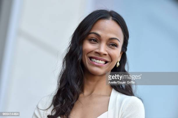 Actress Zoe Saldana is honored with star on the Hollywood Walk of Fame on May 3 2018 in Hollywood California