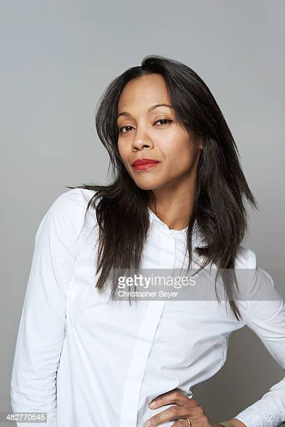 Actress Zoe Saldana is photographed for Entertainment Weekly Magazine on January 25 2014 in Park City Utah