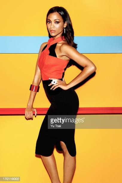 Actress Zoe Saldana is photographed for Latina Magazine on February 22 2013 in Los Angeles California PUBLISHED IMAGE
