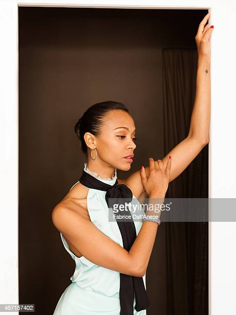Actress Zoe Saldana is photographed for Vanity Fair Italy in Cannes France