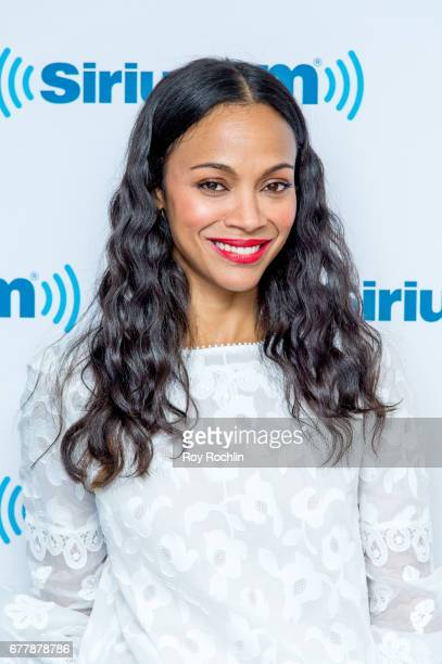 Actress Zoe Saldana visits 'Sway in the Morning' hosted by SiriusXM's Sway Calloway on Eminem's Shade 45 at the SiriusXM Studios onÊon May 3 2017 in...