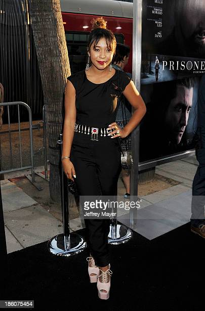 Actress Zoe Soul arrives at the 'Prisoners' - Los Angeles Premiere at the Academy of Motion Picture Arts and Sciences on September 12, 2013 in...