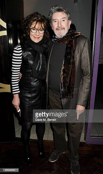Actress Zoe Wanamaker and cast member Gawn Grainger attend an after party following the press night performance of Donmar Warehouse's 'The Recruiting...
