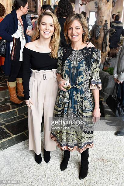 Actress Zoey Deutch and Editor in Chief of Glamour Magazine Cindi Leive attend Lunch Celebrating Films Powered By Women Hosted By Glamour's Cindi...