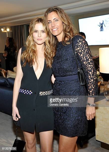 Actress Zoey Deutch and talent agent Tracy Brennan attend InStyle And Jimmy Choo's Girls Night In hosted by Jimmy Choo's Creative Director Sandra...