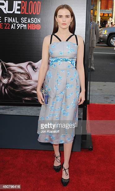 """Actress Zoey Deutch arrives at HBO's """"True Blood"""" Final Season Premiere at TCL Chinese Theatre on June 17, 2014 in Hollywood, California."""