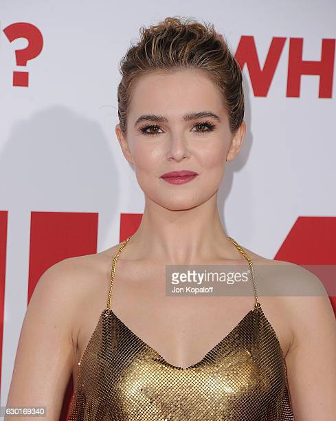 Actress Zoey Deutch arrives at the Los Angeles Premiere Why Him at Regency Bruin Theater on December 17 2016 in Westwood California