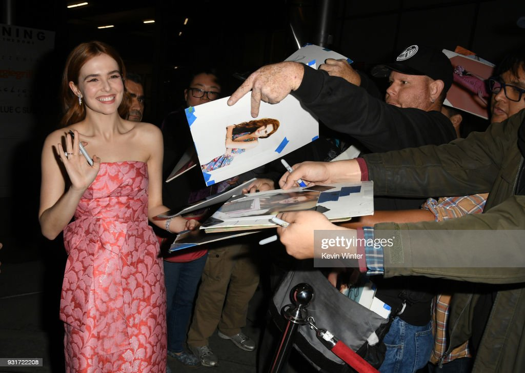 Actress Zoey Deutch arrives at the premiere of The Orchard's 'Flower' at the Arclight Theatre on March 13, 2018 in Los Angeles, California.