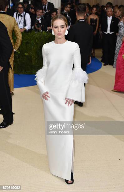 Actress Zoey Deutch attends 'Rei Kawakubo/Comme des Garcons Art Of The InBetween' Costume Institute Gala at Metropolitan Museum of Art on May 1 2017...