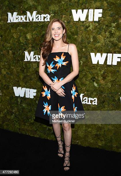 Actress Zoey Deutch attends The Max Mara 2015 Women In Film Face Of The Future event at Chateau Marmont on June 15 2015 in West Hollywood California