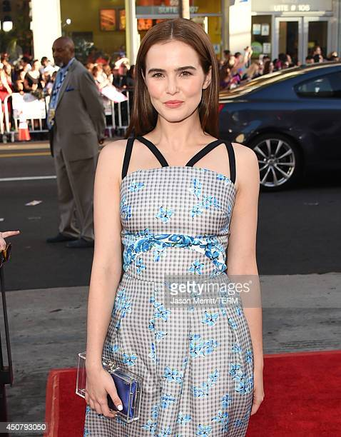 Actress Zoey Deutch attends the premiere of HBO's True Blood season 7 and final season at TCL Chinese Theatre on June 17 2014 in Hollywood California