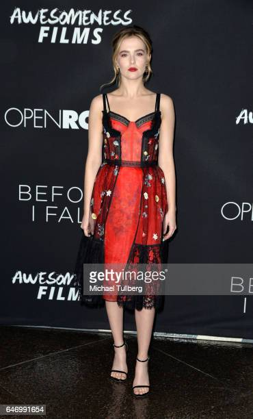 Actress Zoey Deutch attends the premiere of Open Road Films' Before I Fall at Directors Guild Of America on March 1 2017 in Los Angeles California