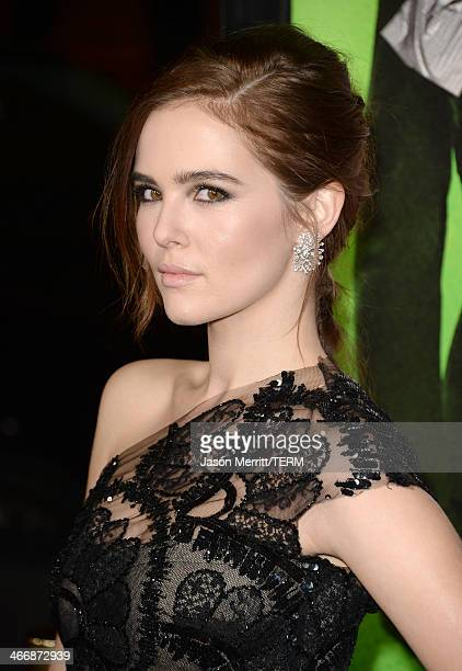 """Actress Zoey Deutch attends the premiere of The Weinstein Company's """"Vampire Academy"""" at Regal Cinemas L.A. Live on February 4, 2014 in Los Angeles,..."""
