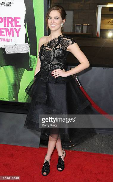 Actress Zoey Deutch attends the premiere of 'Vampire Academy' on February 4 2014 at Regal Cinemas LA Live in Los Angeles California