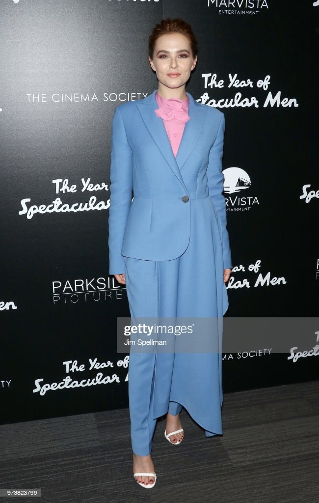 Actress Zoey Deutch attends the screening of 'The Year Of Spectacular Men' hosted by MarVista Entertainment and Parkside Pictures with The Cinema Society at The Landmark at 57 West on June 13, 2018 in New York City.