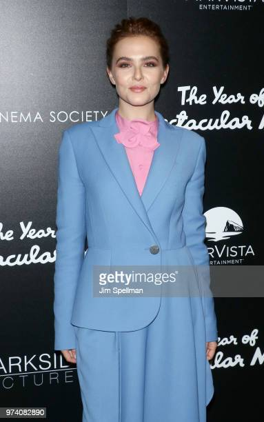 Actress Zoey Deutch attends the screening of 'The Year Of Spectacular Men' hosted by MarVista Entertainment and Parkside Pictures with The Cinema...