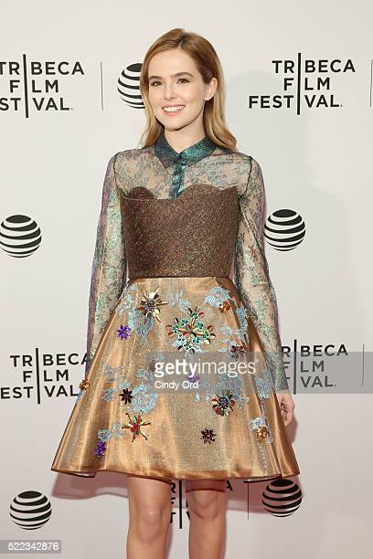 Actress Zoey Deutch attends the Vincent N Roxxy Premiere during the 2016 Tribeca Film Festival at Chelsea Bow Tie Cinemas on April 18 2016 in New...