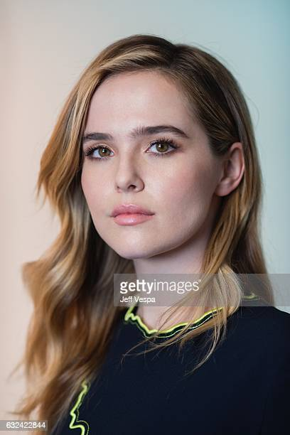 Actress Zoey Deutch from the film 'Before I Fall' poses for a portrait in the WireImage Portrait Studio presented by DIRECTV on January 20 2017 in...