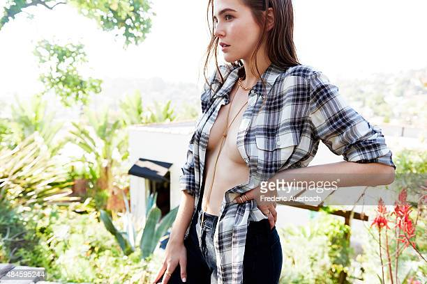 Actress Zoey Deutch is photographed for Flaunt Magazine on May 1 2015 in Los Angeles California Published Image