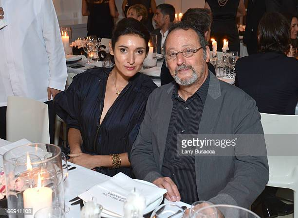 Actress Zofia Borucka and Actor Jean Reno attend IWC and Tribeca Film Festival Celebrate For the Love of Cinema on April 18 2013 in New York City