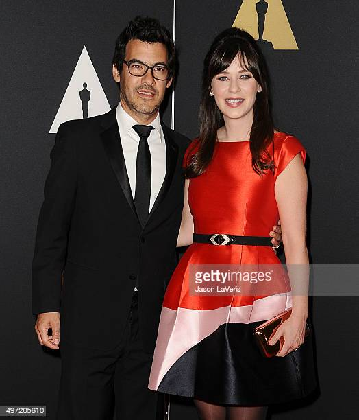 Actress Zooey Deschanel and husband Jacob Pechenik attend the 7th annual Governors Awards at The Ray Dolby Ballroom at Hollywood Highland Center on...