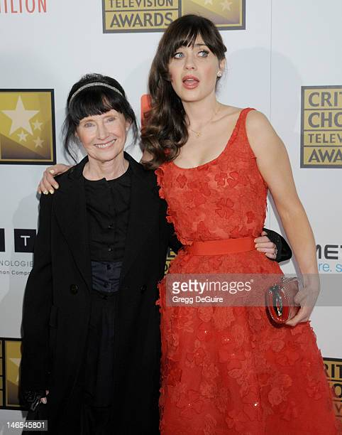 Actress Zooey Deschanel and mom Mary Jo Deschanel arrive at The Critics' Choice Television Awards at The Beverly Hilton Hotel on June 18 2012 in...