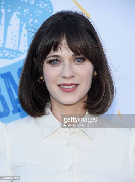 Actress Zooey Deschanel arrives at the 2018 Heal The Bay's Bring Back The Beach Awards Gala at The Jonathan Club on May 17 2018 in Santa Monica...