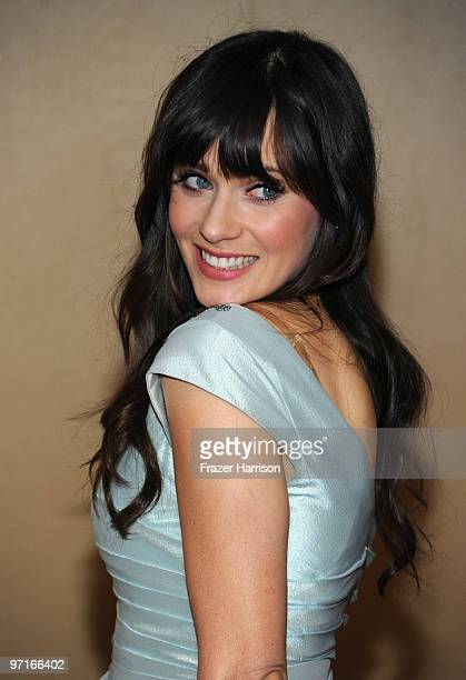 Actress Zooey Deschanel arrives at the 24th Annual American Society of Cinematographers 24th Annual Outstanding Achievement Awards held at the Hyatt...