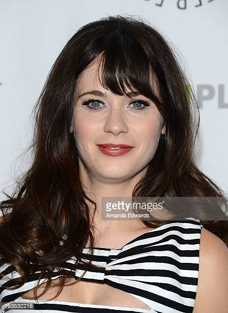 Actress Zooey Deschanel arrives at the 30th Annual PaleyFest The William S Paley Television Festival featuring 'New Girl' at the Saban Theatre on...
