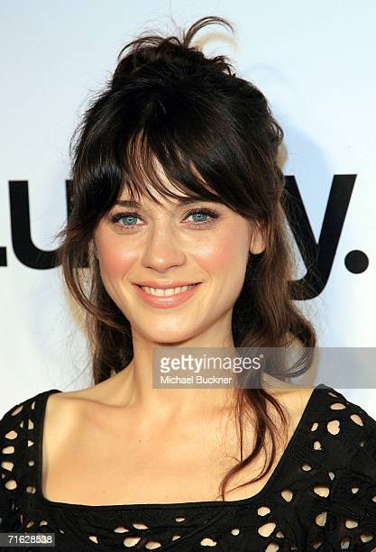 Actress Zooey Deschanel arrives at the Lucky Magazine September Issue and LA Shopping Guide celebration at Milk Boutique on August 10 2006 in Los...