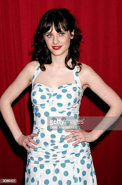 Actress Zooey Deschanel arrives at the Second Biennal What A Pair Cabaret Extravaganza Benefit The Revlon/UCLA Breast Center on March 14 2004 at the...