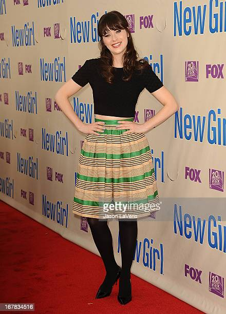 Actress Zooey Deschanel attends a screening and QA of 'New Girl' at Leonard H Goldenson Theatre on April 30 2013 in North Hollywood California
