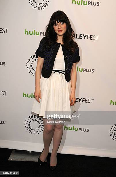 Actress Zooey Deschanel attends PaleyFest 2012 presents New Girl at Saban Theatre on March 5 2012 in Beverly Hills California