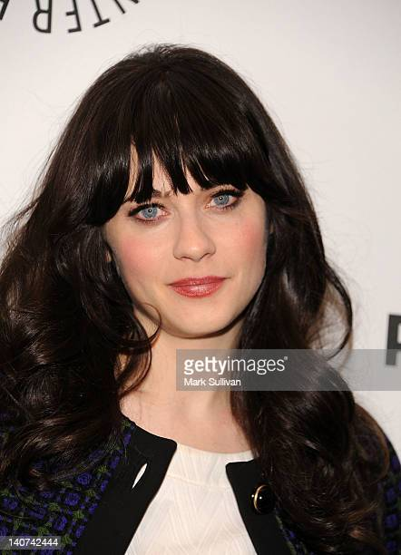 Actress Zooey Deschanel attends PaleyFest 2012 presents 'New Girl' at Saban Theatre on March 5 2012 in Beverly Hills California