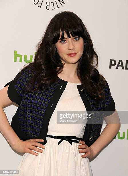 """Actress Zooey Deschanel attends PaleyFest 2012 presents """"New Girl"""" at Saban Theatre on March 5, 2012 in Beverly Hills, California."""