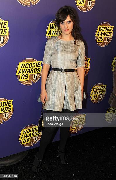 Actress Zooey Deschanel attends the 2009 mtvU Woodie Awards at the Roseland Ballroom on November 18 2009 in New York City