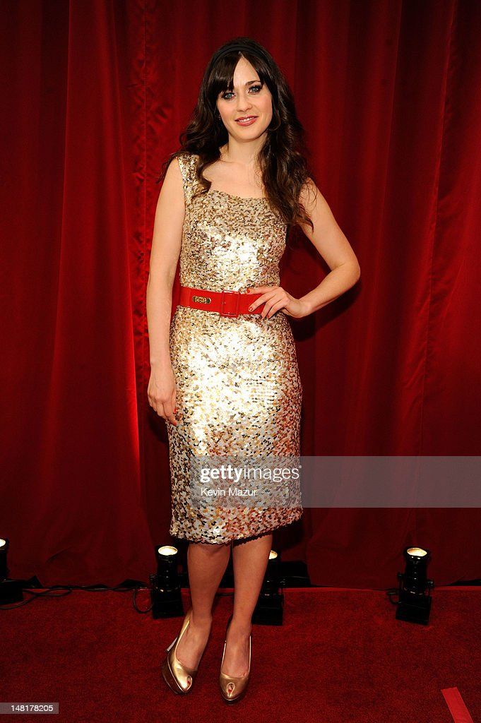 Actress Zooey Deschanel attends the 2012 ESPY Awards at Nokia Theatre L.A. Live on July 11, 2012 in Los Angeles, California.